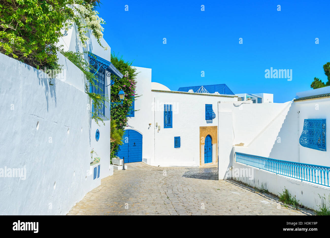 Sidi Bou Said is one of the best resorts of Tunisia. - Stock Image