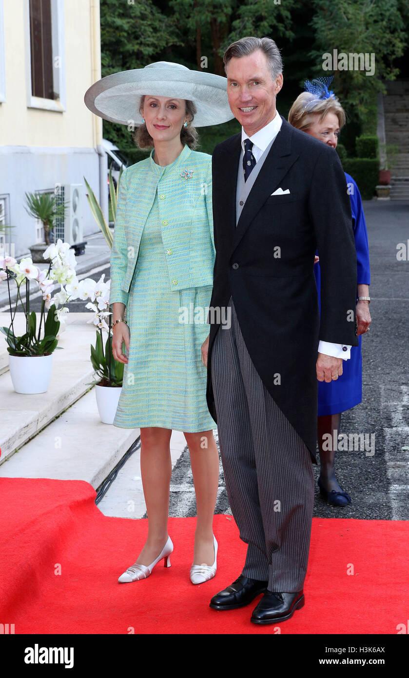 Tirana, Albania. 08th Oct, 2016. Prince Guillaume and Princess Stock ...