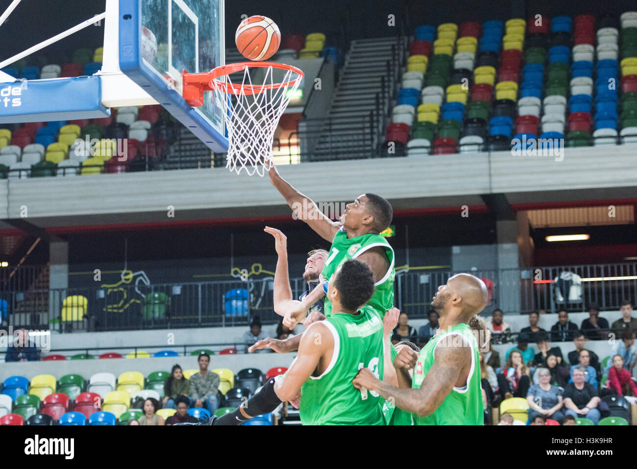 London, UK, 9 October 2016. London Lions beat Plymouth Raiders 105 vs 79 in the BBL cup game. Plymouth Raiders  - Stock Image