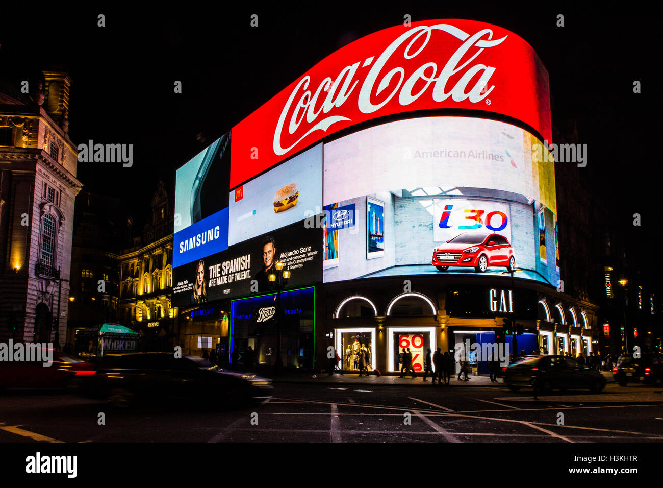 Piccadilly Circus London prior to renovation 2016 - Stock Image