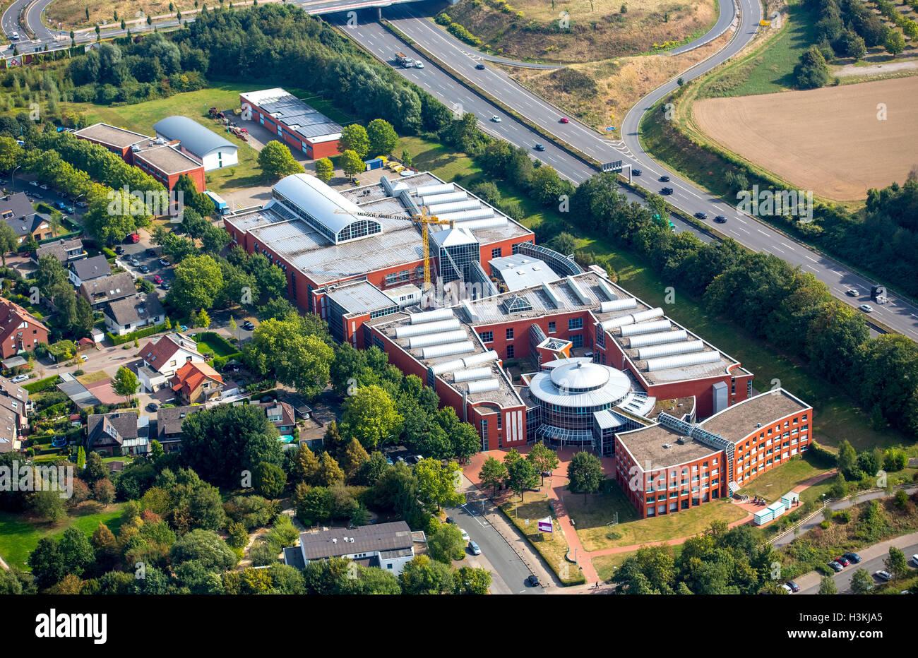 Aerial picture, professional life DASA exhibition, German industrial safety exhibition, Dortmund-Dorstfeld, - Stock Image