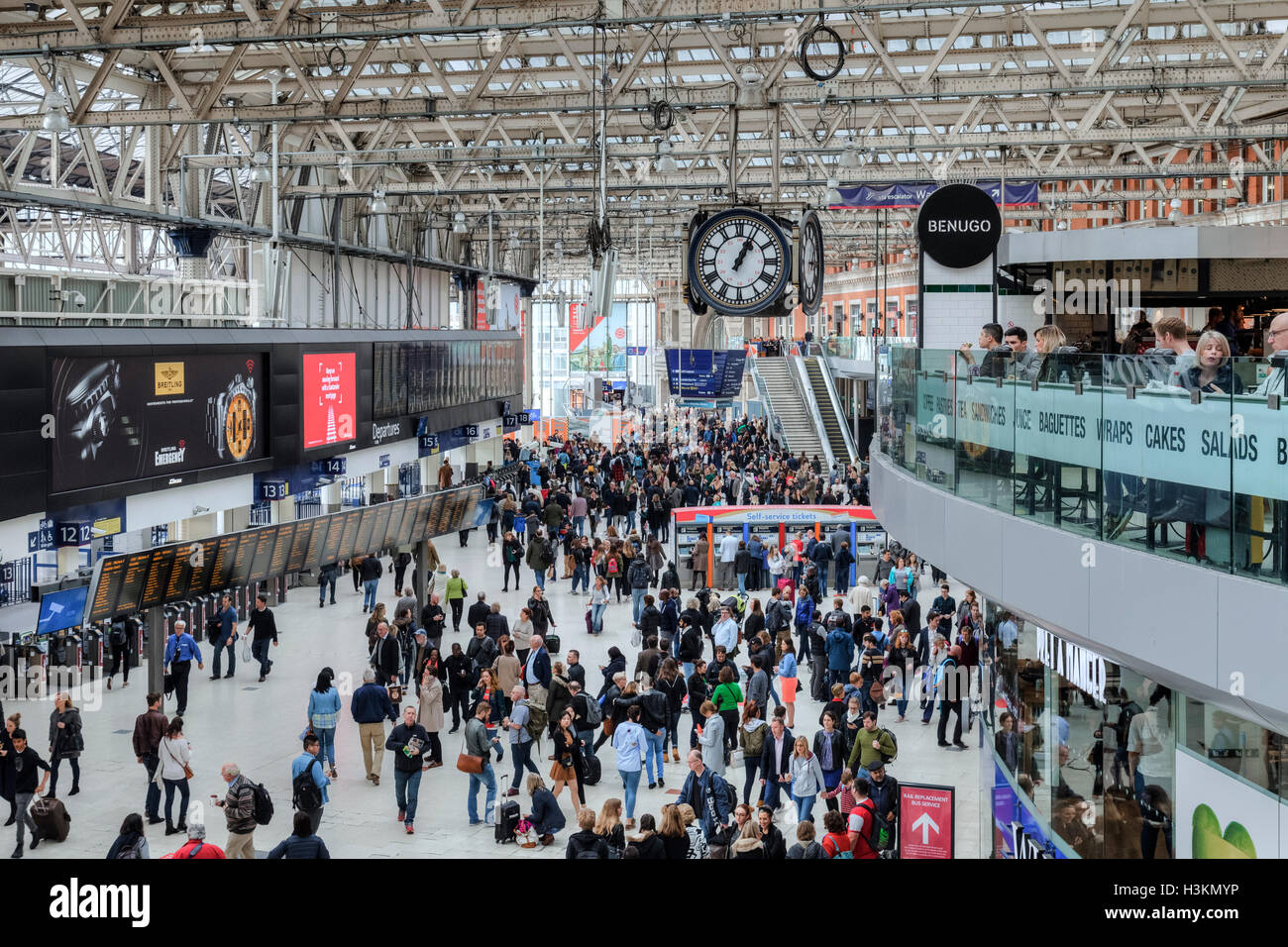 Waterloo Station; London; England, UK Stock Photo