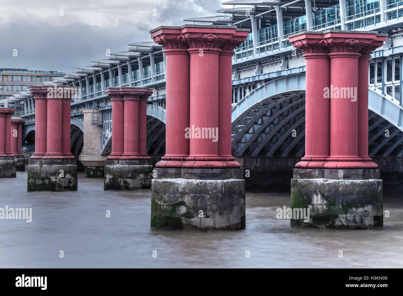 Blackfriars Bridge, London, England, UK - Stock Image