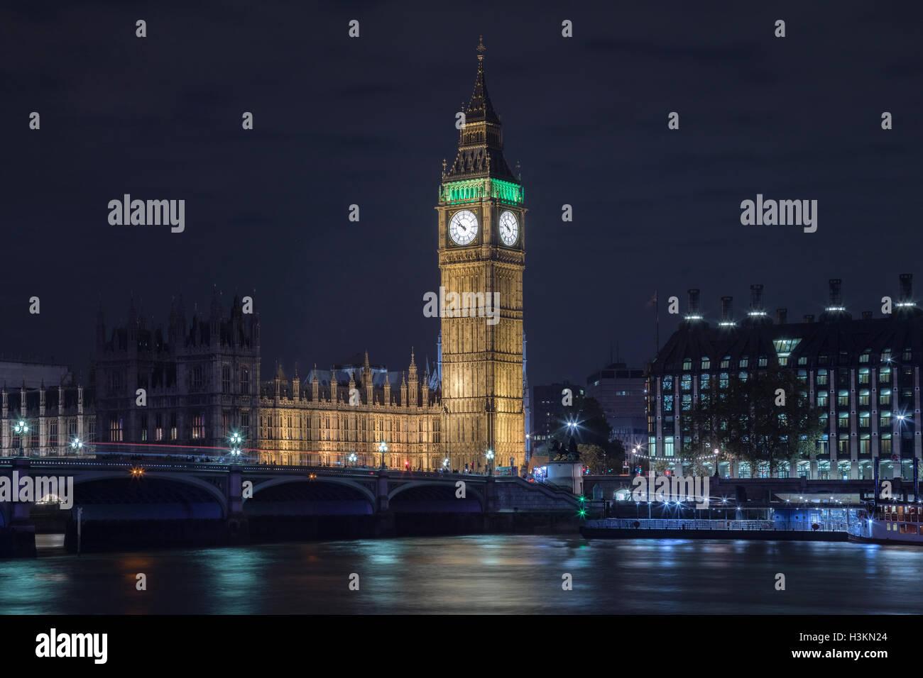 Westminster, Big Ben, London, England, UK - Stock Image