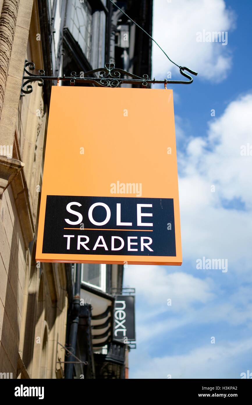 Sole Trader Sign - Stock Image