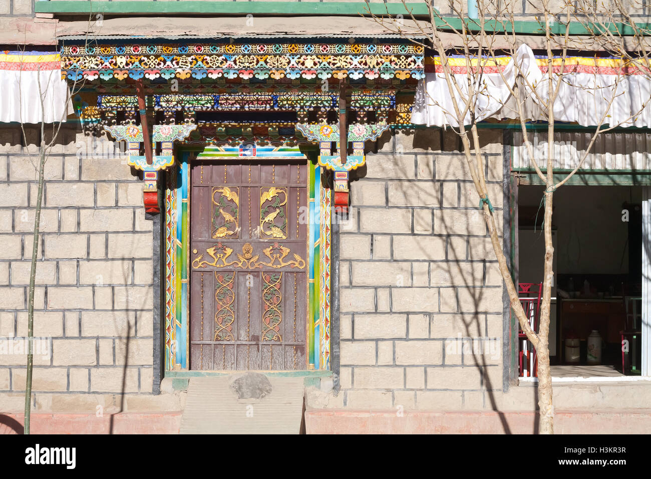 Old Gyangtse, Tibet - Stock Image