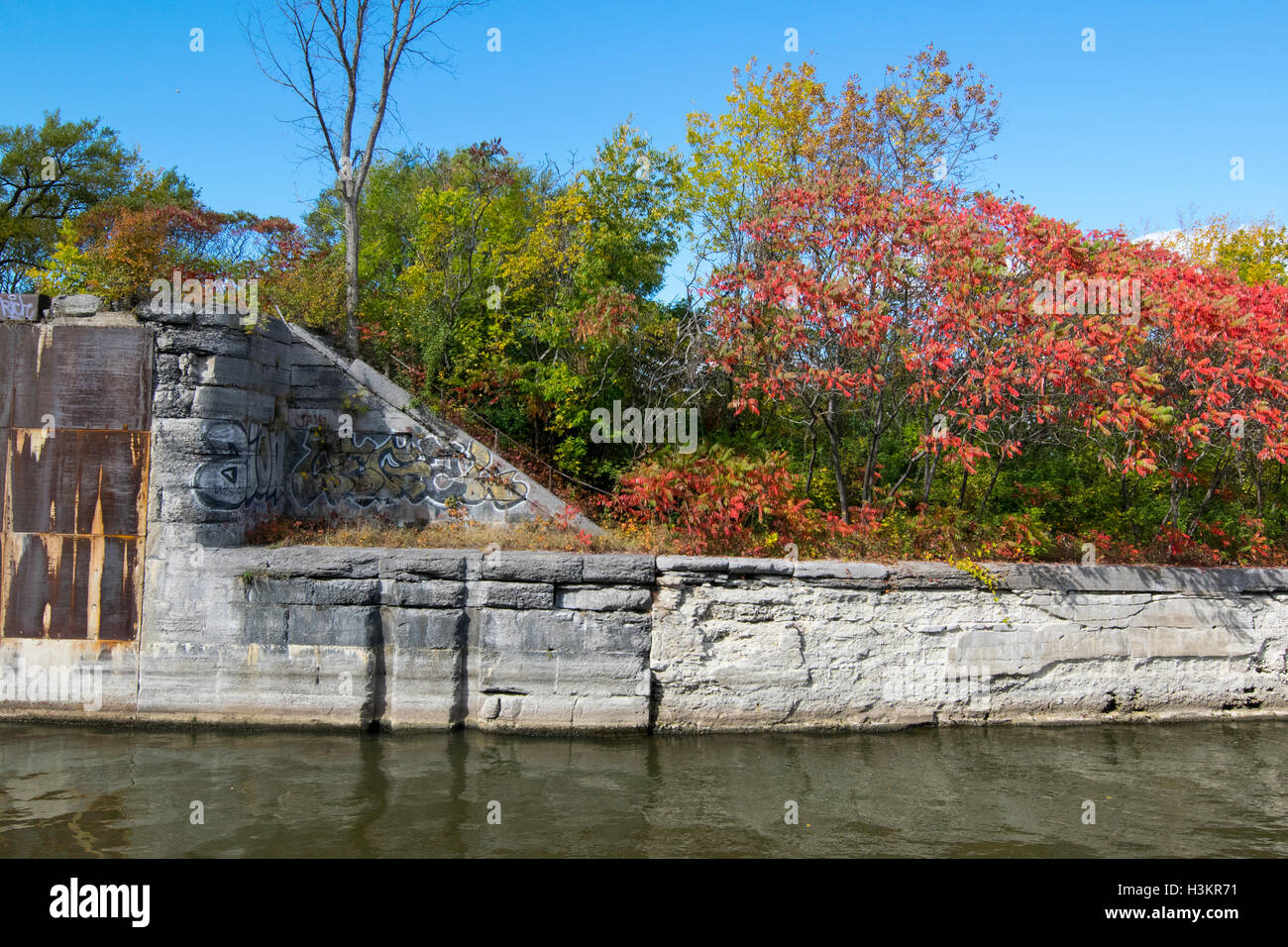 A view of the Soulange Canal. - Stock Image
