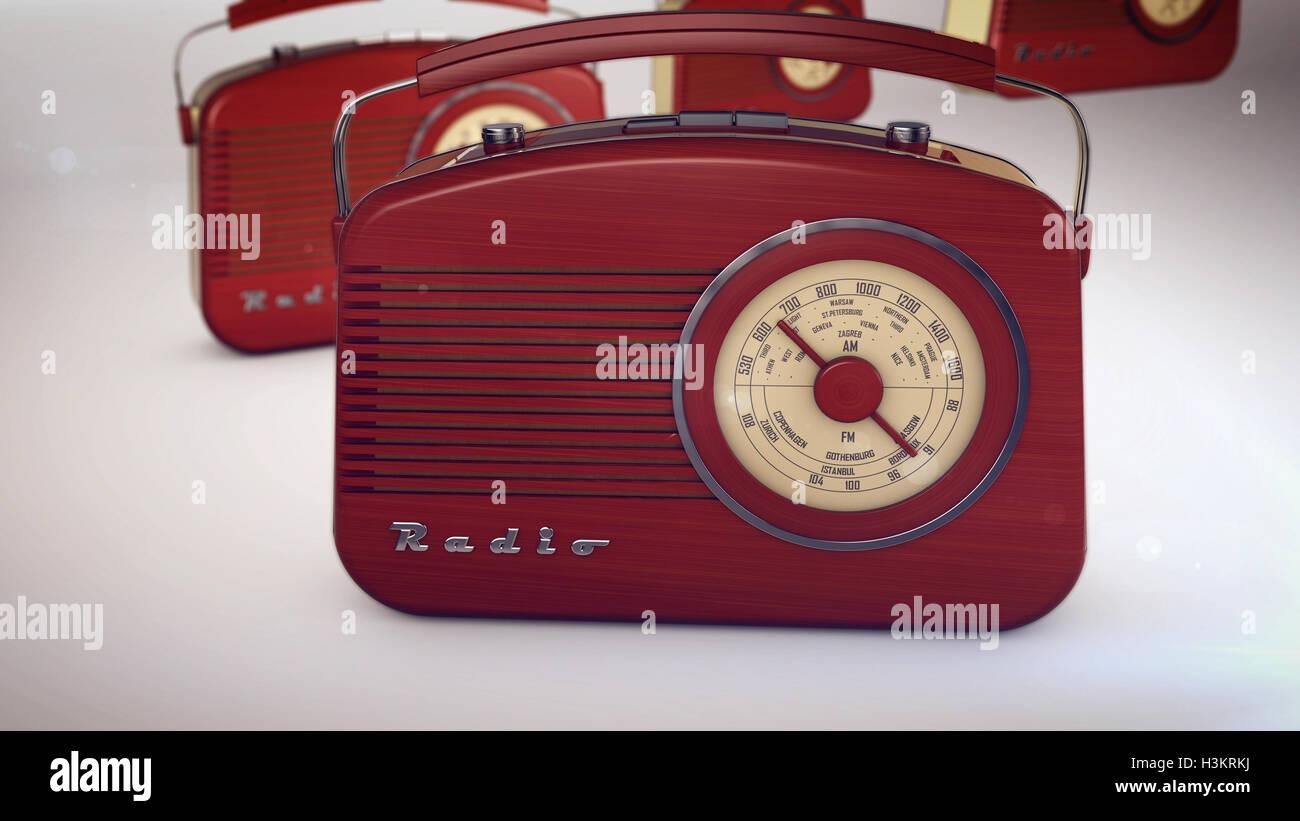 3D rendering of radio receivers - Stock Image