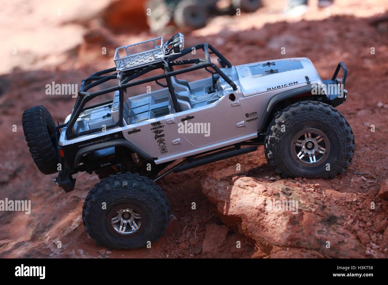 Miniature Jeep Stock Photo