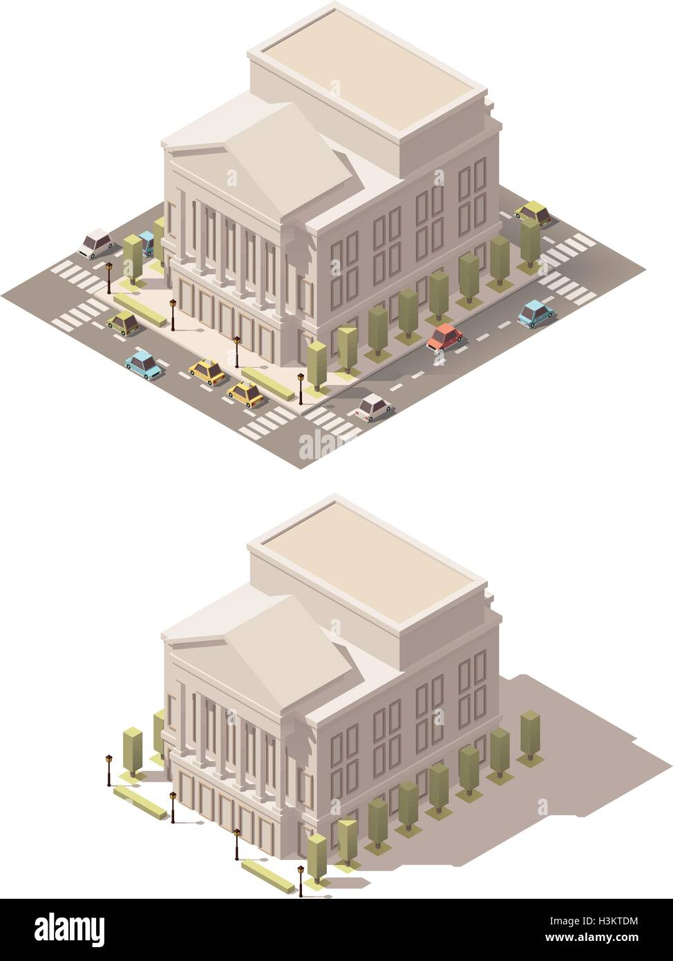 Vector isometric low poly Opera house - Stock Vector