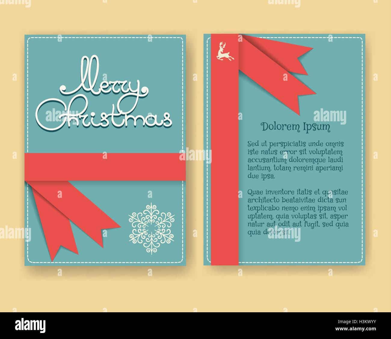 Modern christmas card or brochure design with decoration in retro modern christmas card or brochure design with decoration in retro style vector illustration m4hsunfo