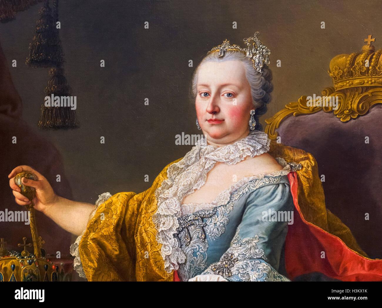 The Empress Maria Theresa (Maria Theresa Walburga Amalia Christina - 1717-1780) by Martin van Meytens, oil on canvas, - Stock Image