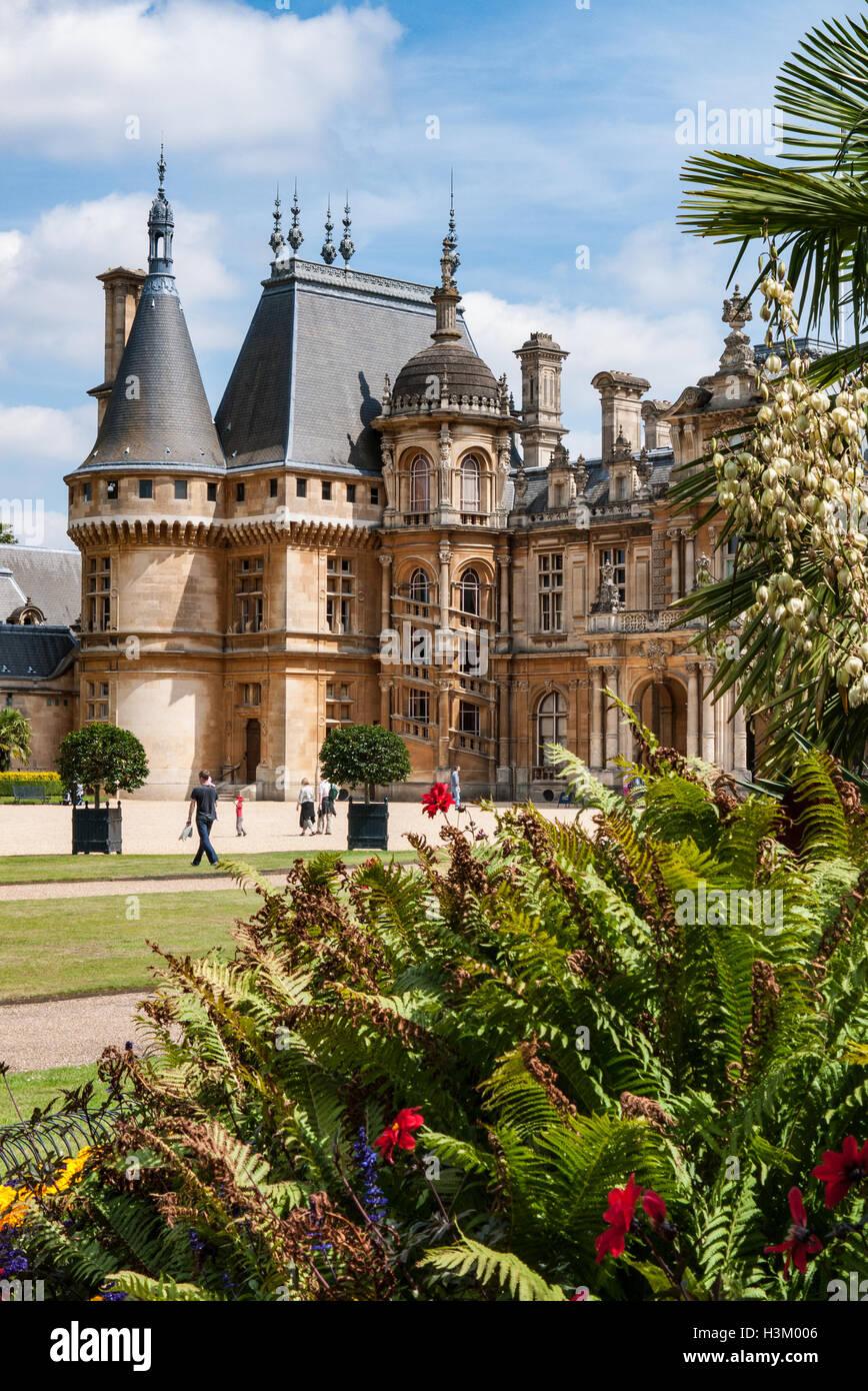Waddesdon Manor  House and Gardens, Buckinghamshire, England - Stock Image