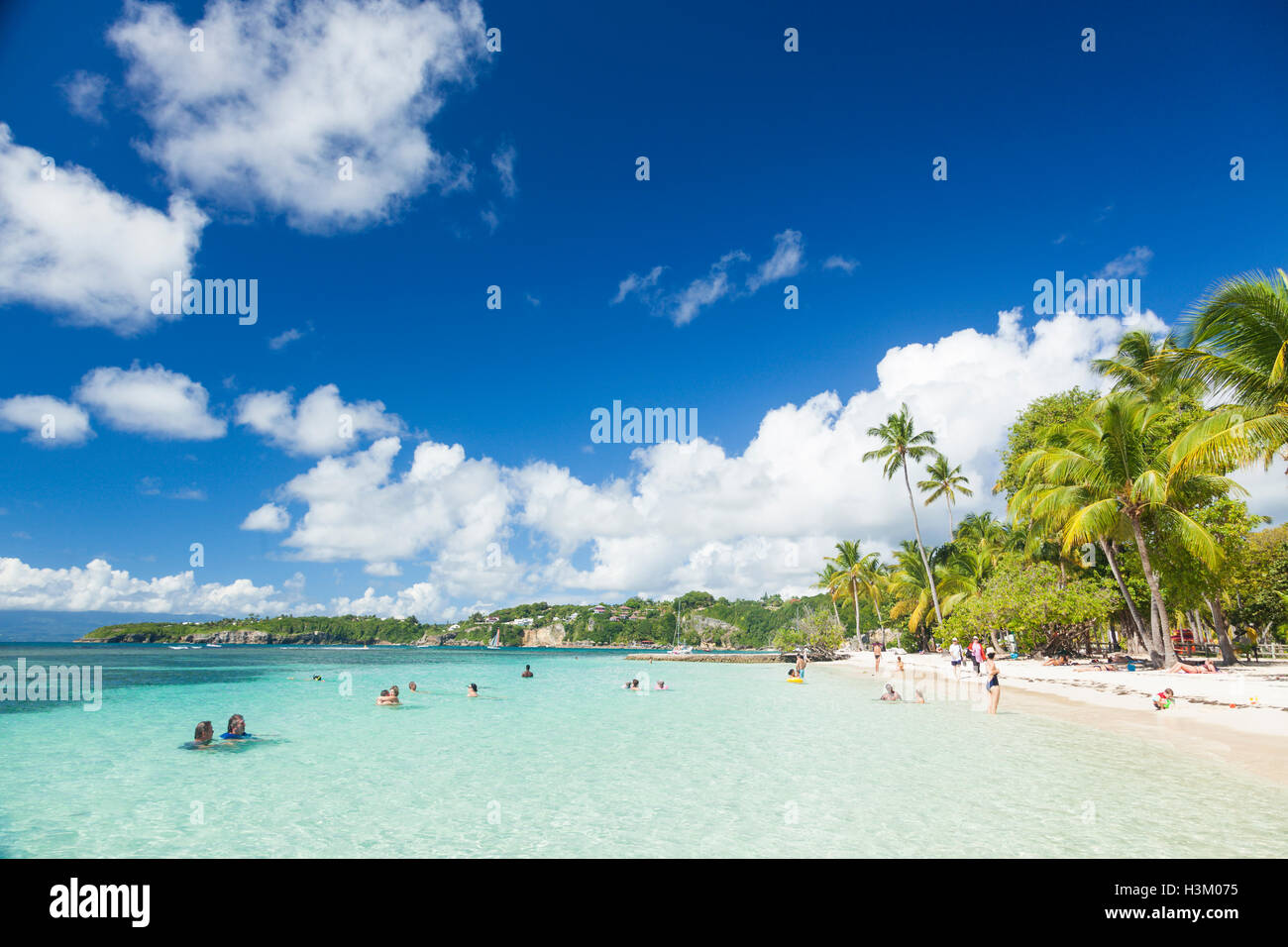 People at the beach of Club Med La Caravelle, Grande-Terre, Guadeloupe - Stock Image