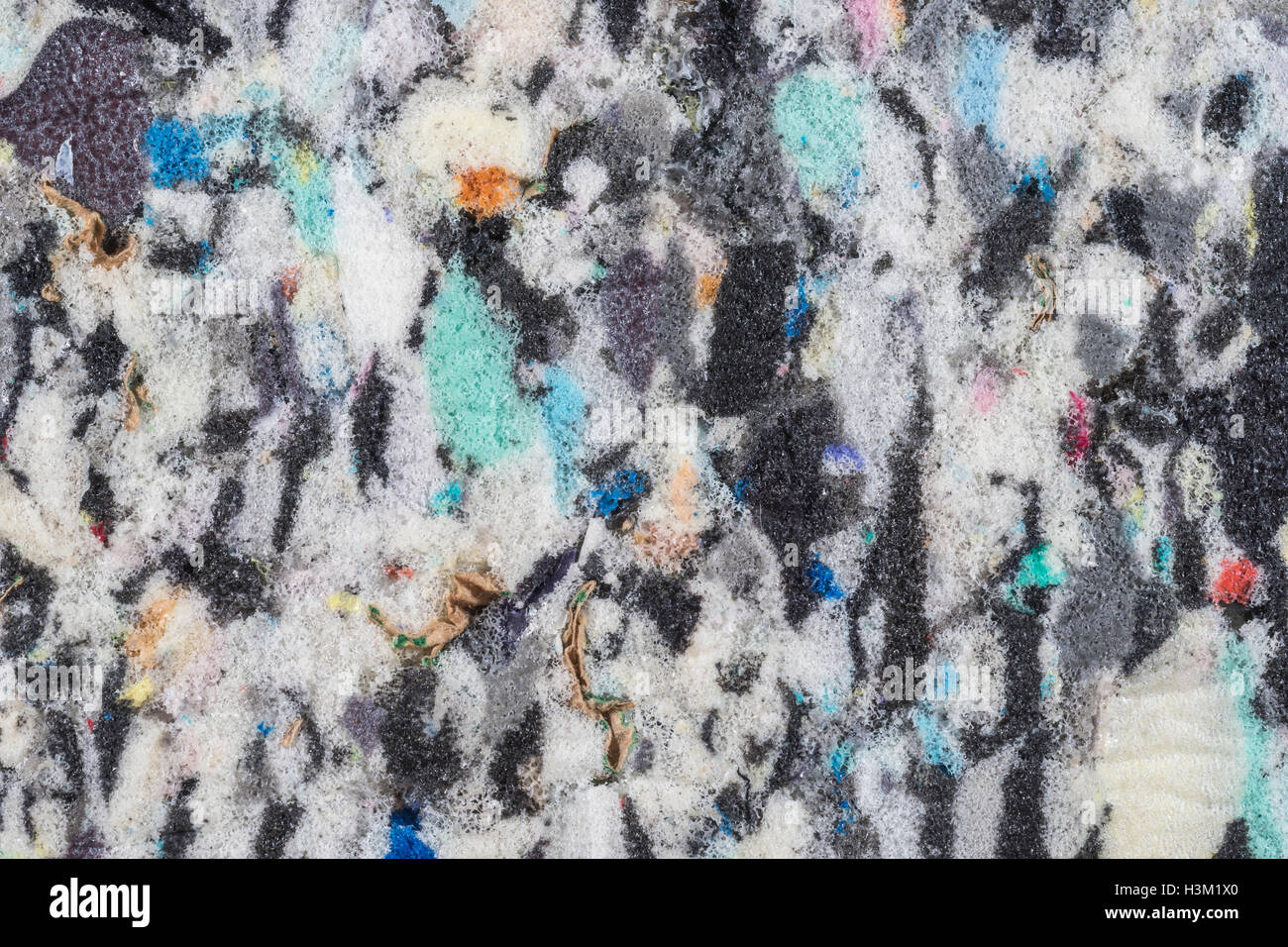 Abstract with Chagall / Kandinsky-esque feel - chaos, mental illness emotional stress, needle in a haystack, shattered, - Stock Image