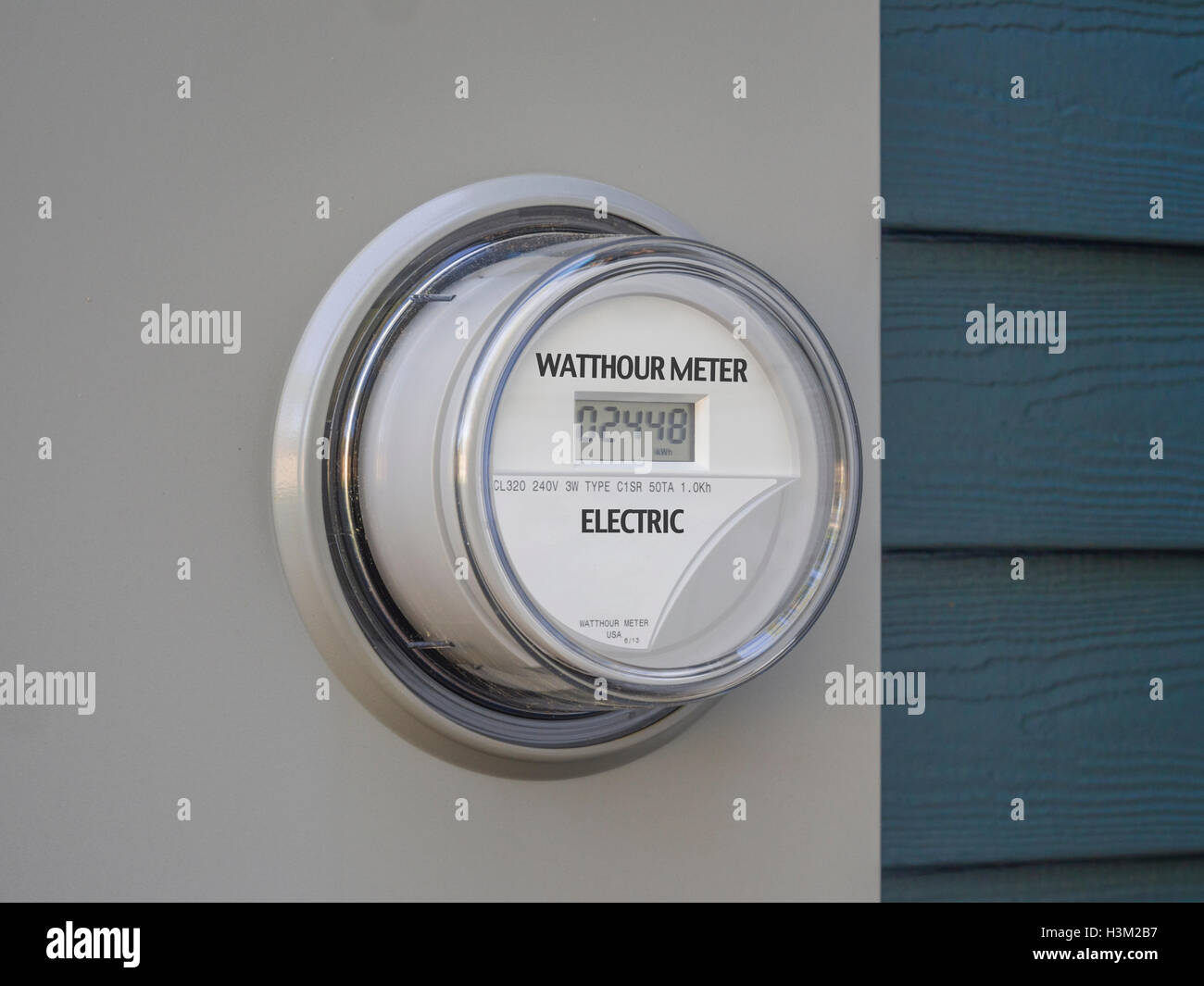 House electricity meter - Stock Image