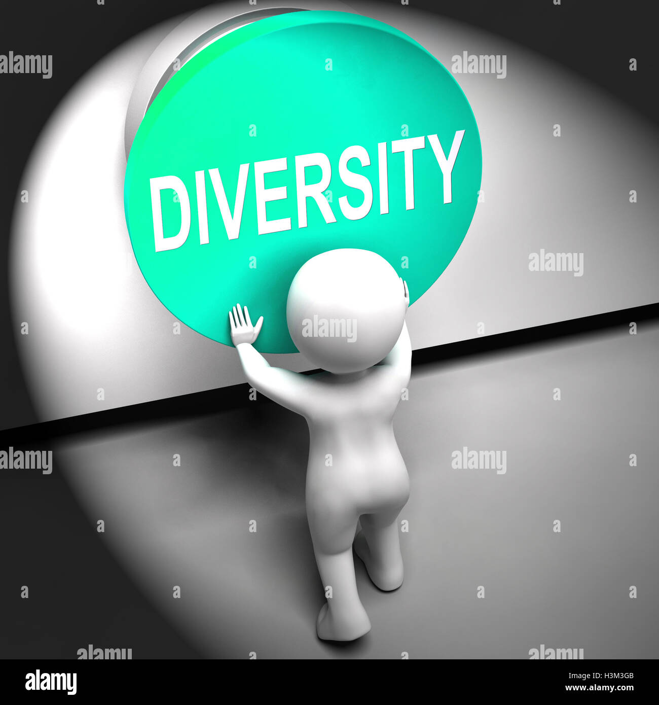 Diversity Pressed Means Variety Difference Or Multi-Cultural - Stock Image
