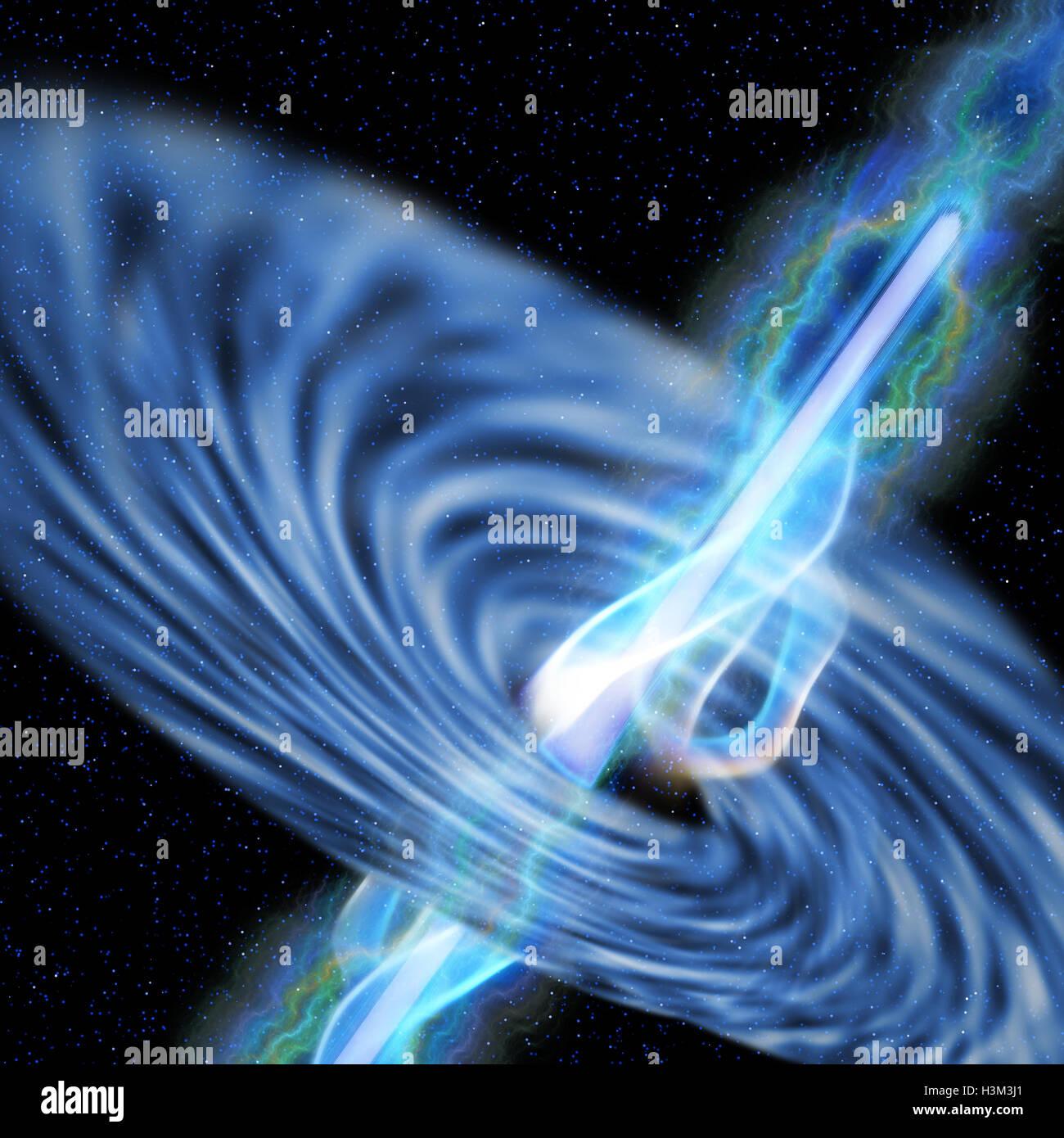 Black Hole Radiation - Stock Image