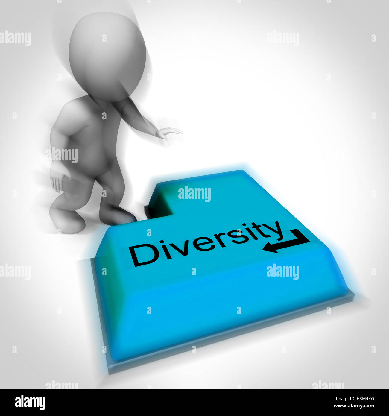 Diversity Keyboard Means Multi-Cultural Range Or Variance - Stock Image