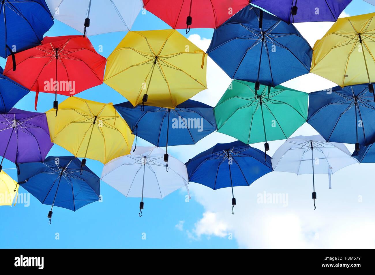 Umbrella sky - Stock Image