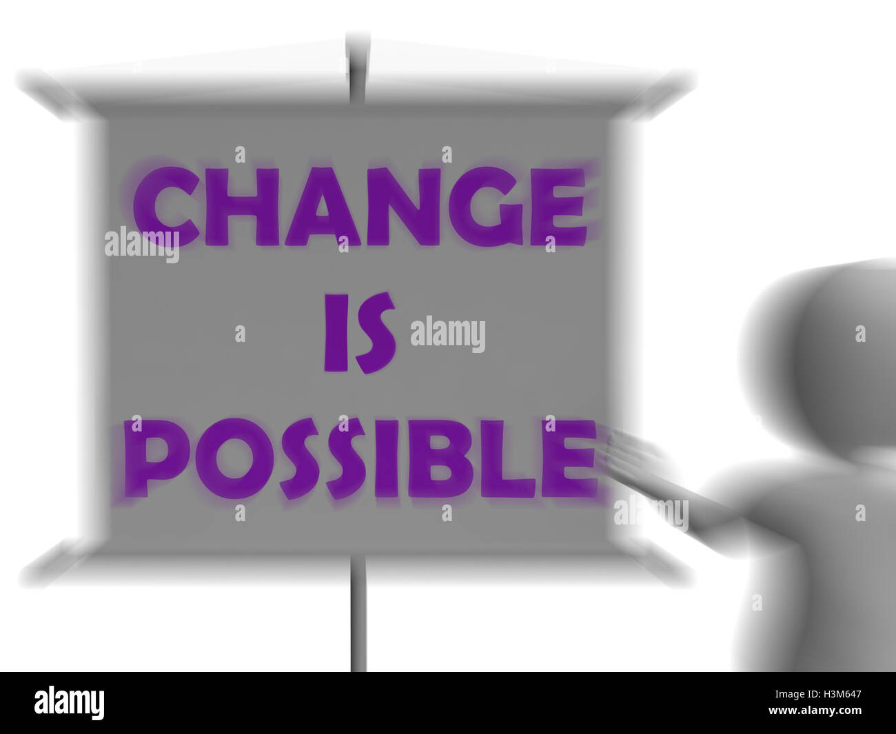 Change Is Possible Board Displays Possible Improvement - Stock Image