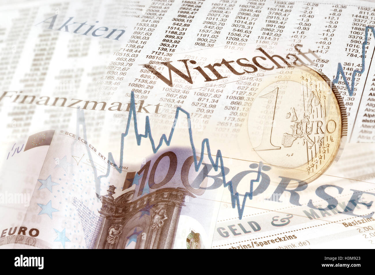 Composing on financial market Stock Photo