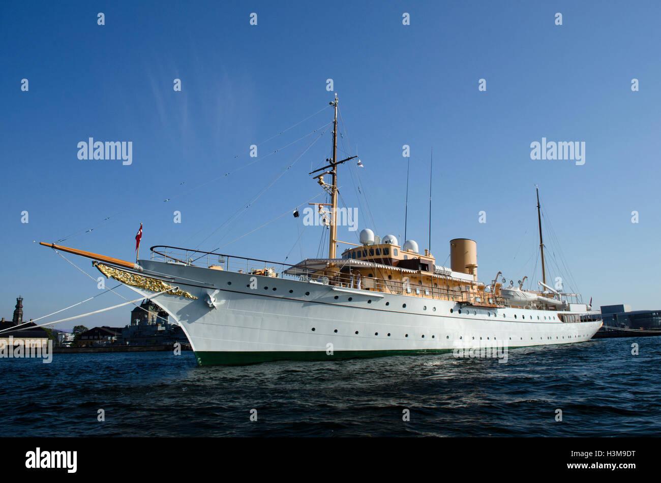HDMY Dannebrog,royal yacht,copenhagen - Stock Image