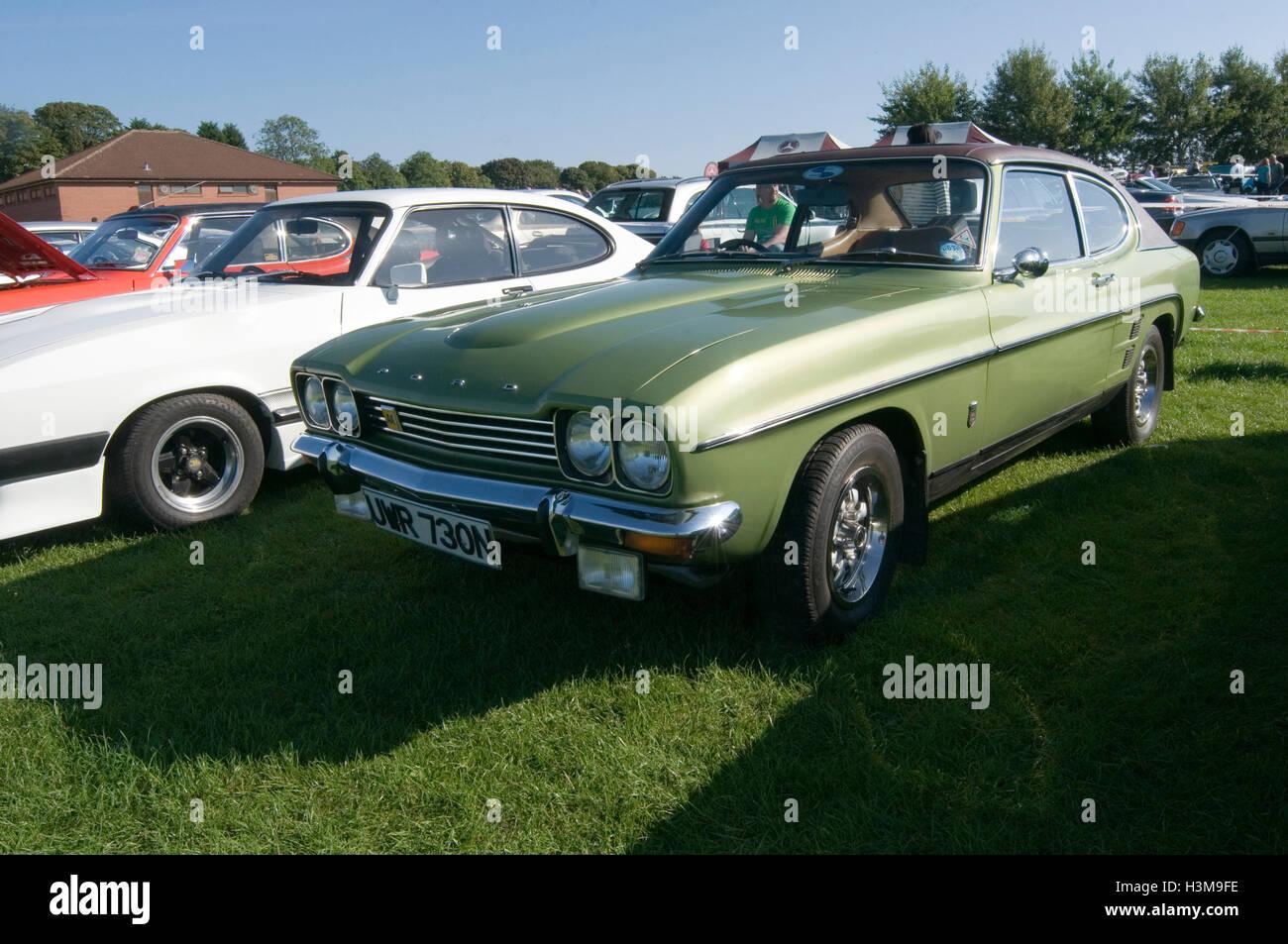 mk 1 mark one ford capri seventies nineteen 70's - Stock Image