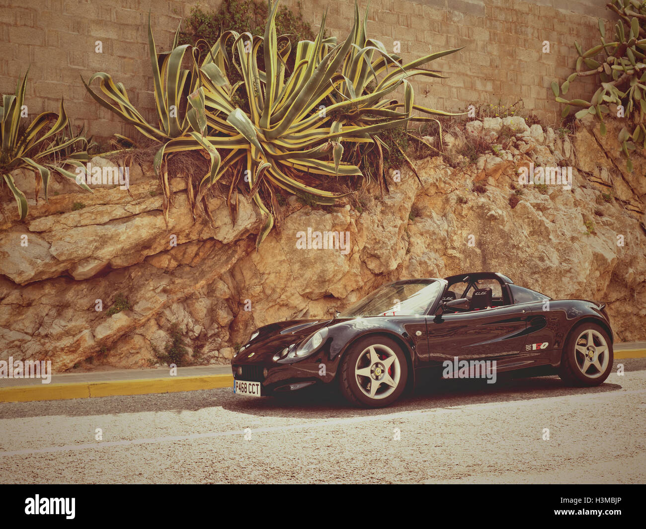 1997 Lotus Elise Sport 190  photographed on the roads around Sitges Spain - Stock Image