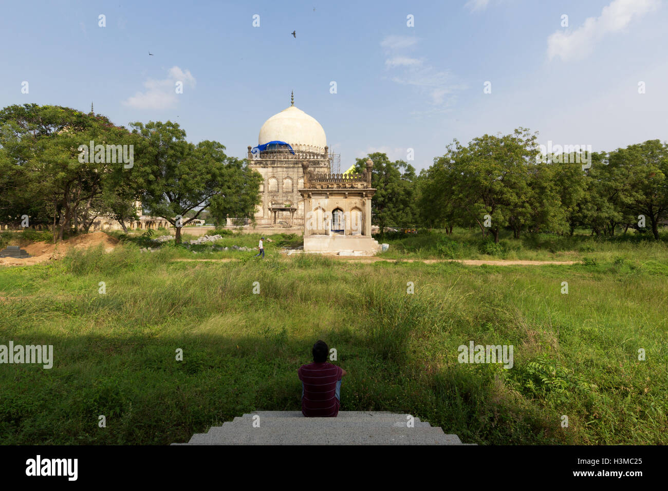 Qutb Shahi Tombs in Hyderabad,India - Stock Image