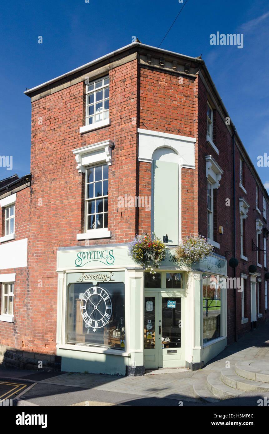 Sweetings Home and Interiors Shop in The Butts, Belper, Derbyshire - Stock Image