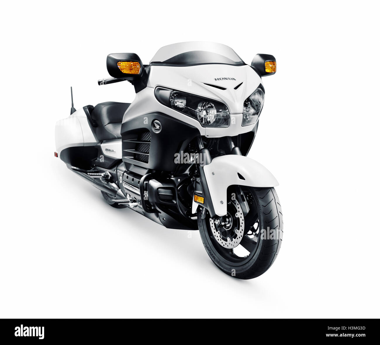 2016 Honda Gold Wing F6B cruiser motorcycle motorbike isolated on white background with clipping path - Stock Image