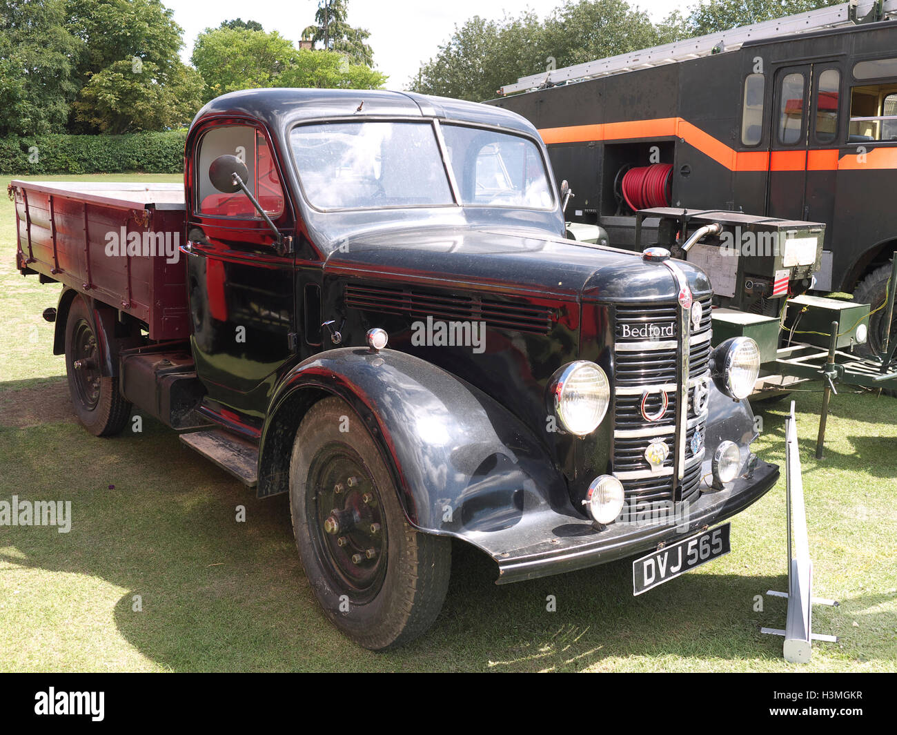 Vintage Bedford pick up truck on display at Baston in the blitz weekend - Stock Image