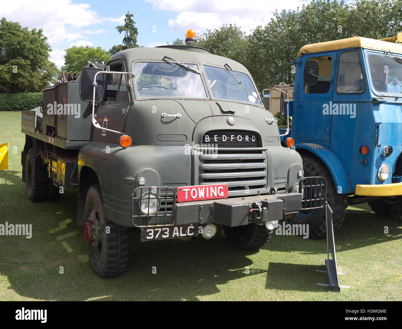 Classic Bedford army truck on display at Baston in the blitz - Stock Image