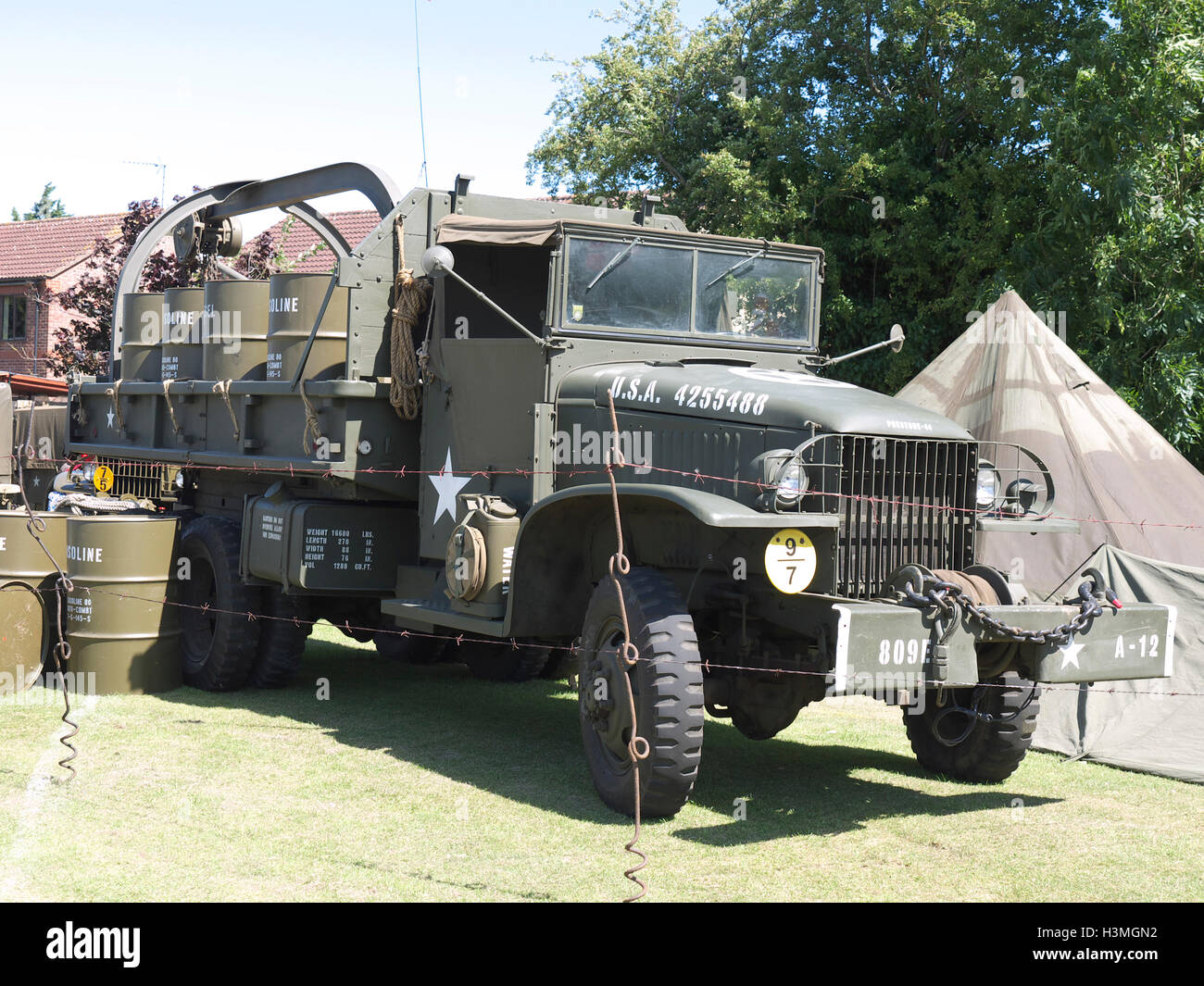 Vintage Wwii Us Army Truck On Display At Baston In The