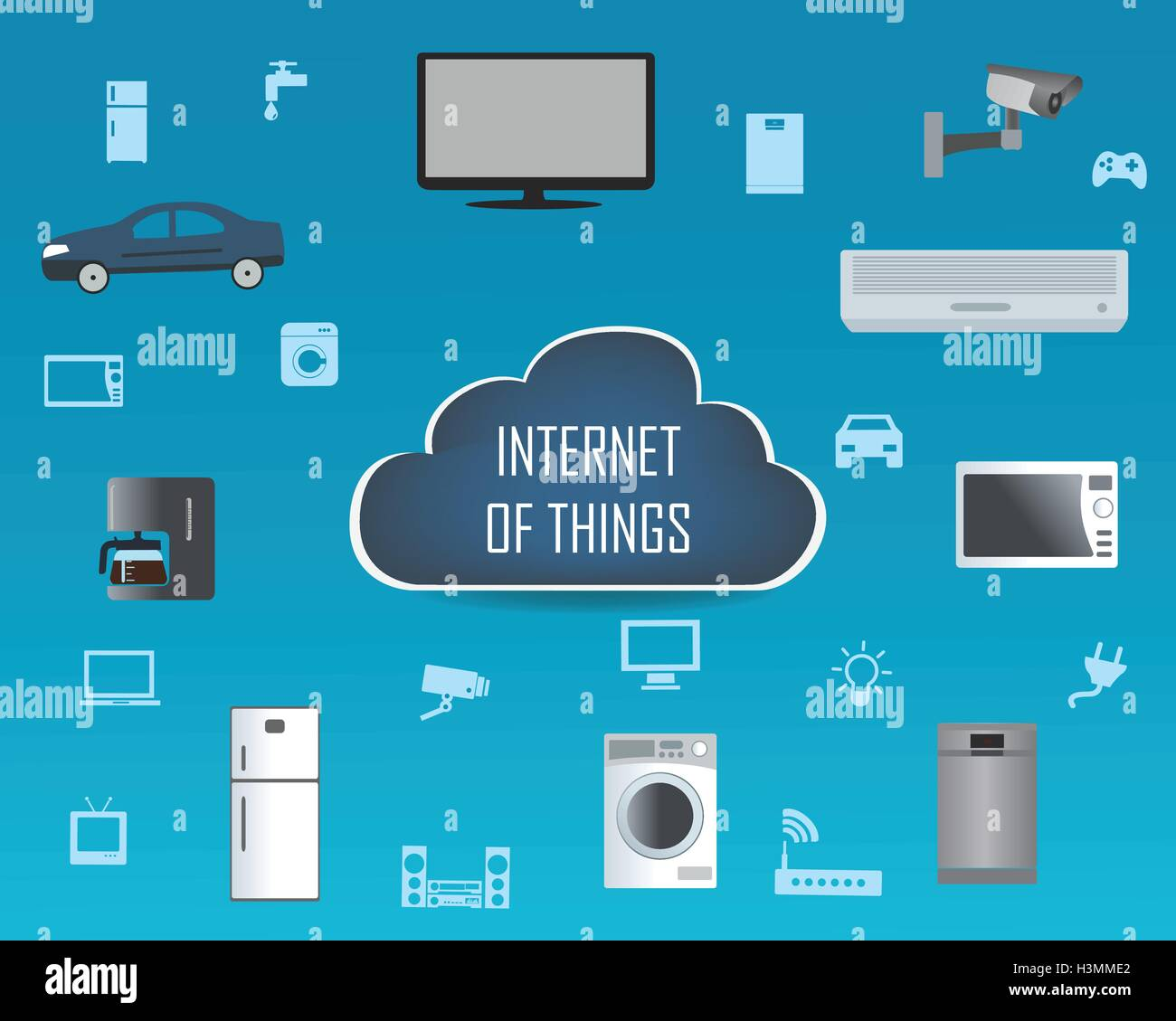 internet of things concept and cloud computing technology smart home stock vector art. Black Bedroom Furniture Sets. Home Design Ideas