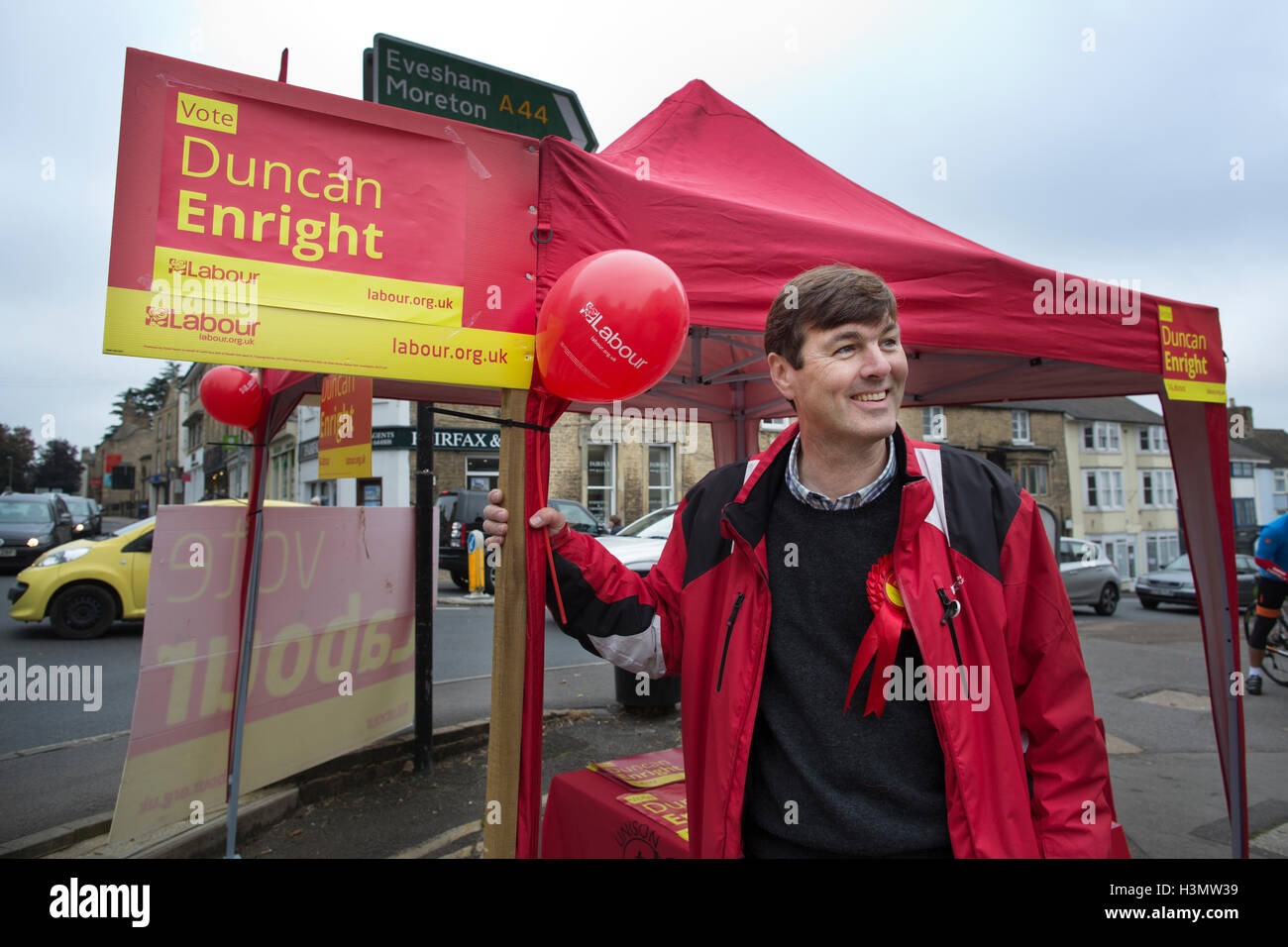 Duncan Enright, West Oxfordshire councillor standing for the Labour Party in the Witney constituency by-election, - Stock Image