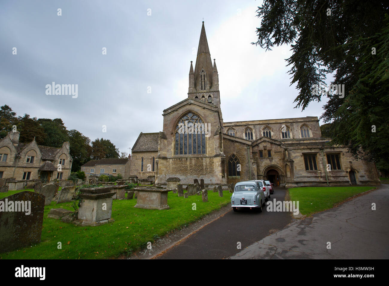 St Mary's Church, Witney, West Oxfordshire, Cotswolds, England, United Kingdom - Stock Image
