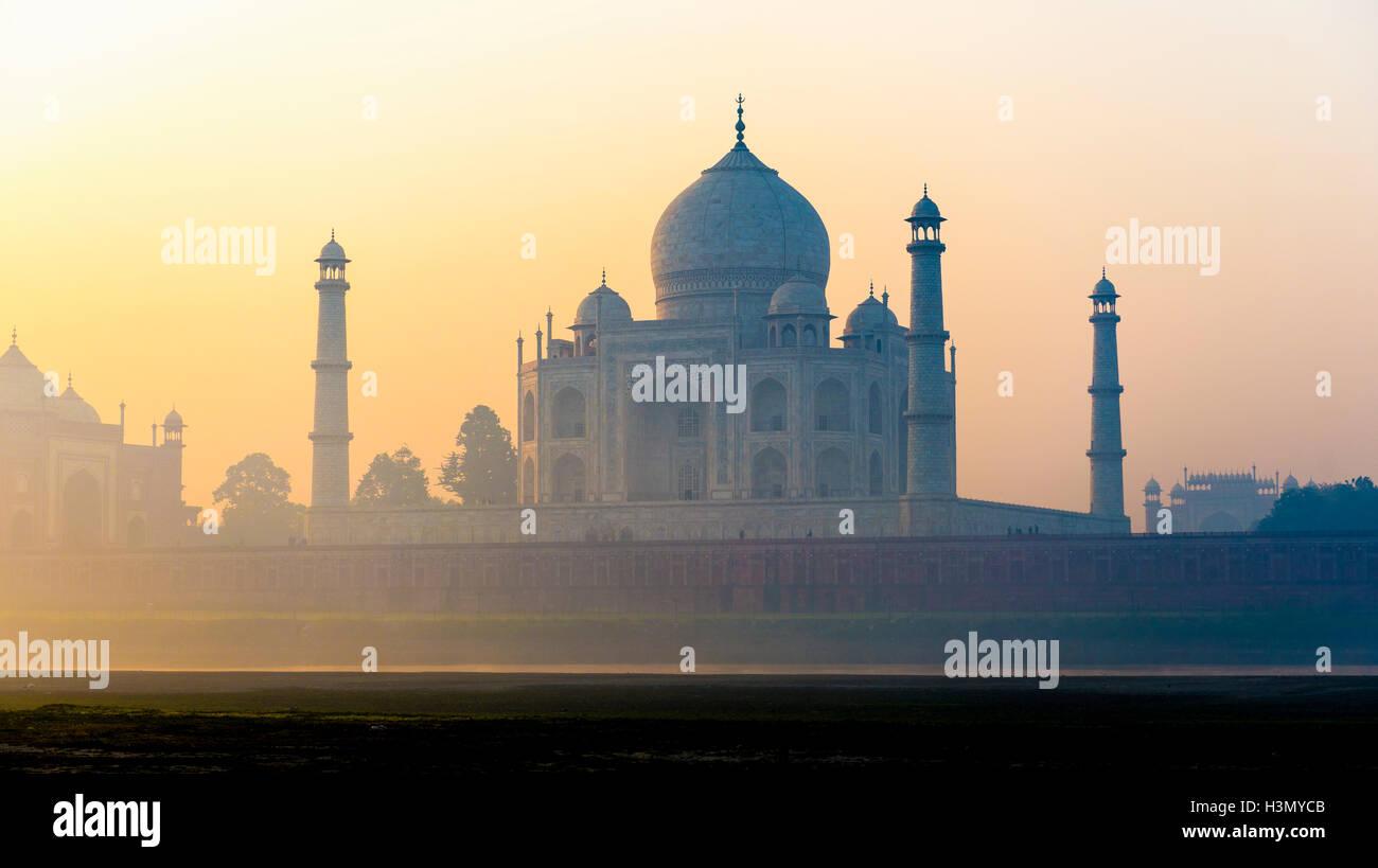 Taj Mahal, Rajasthan, India - Stock Image
