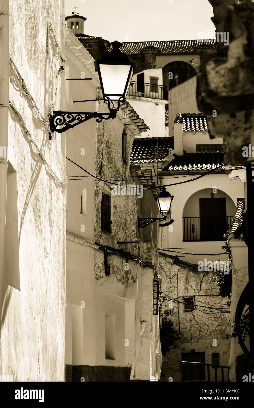 A close up of a street that shows up the small beauty chaos that can be the superposition of different planes at - Stock Image