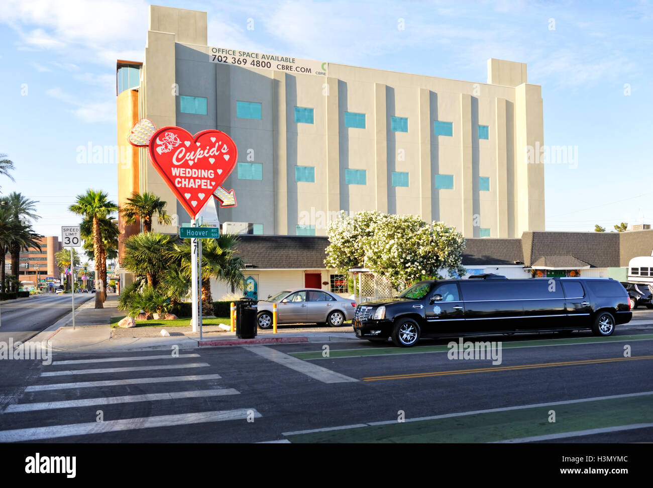 Cupids Wedding Chapel Downtown Las Vegas Stock Photo