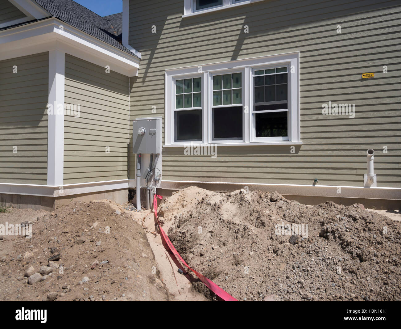 House power installation - Stock Image