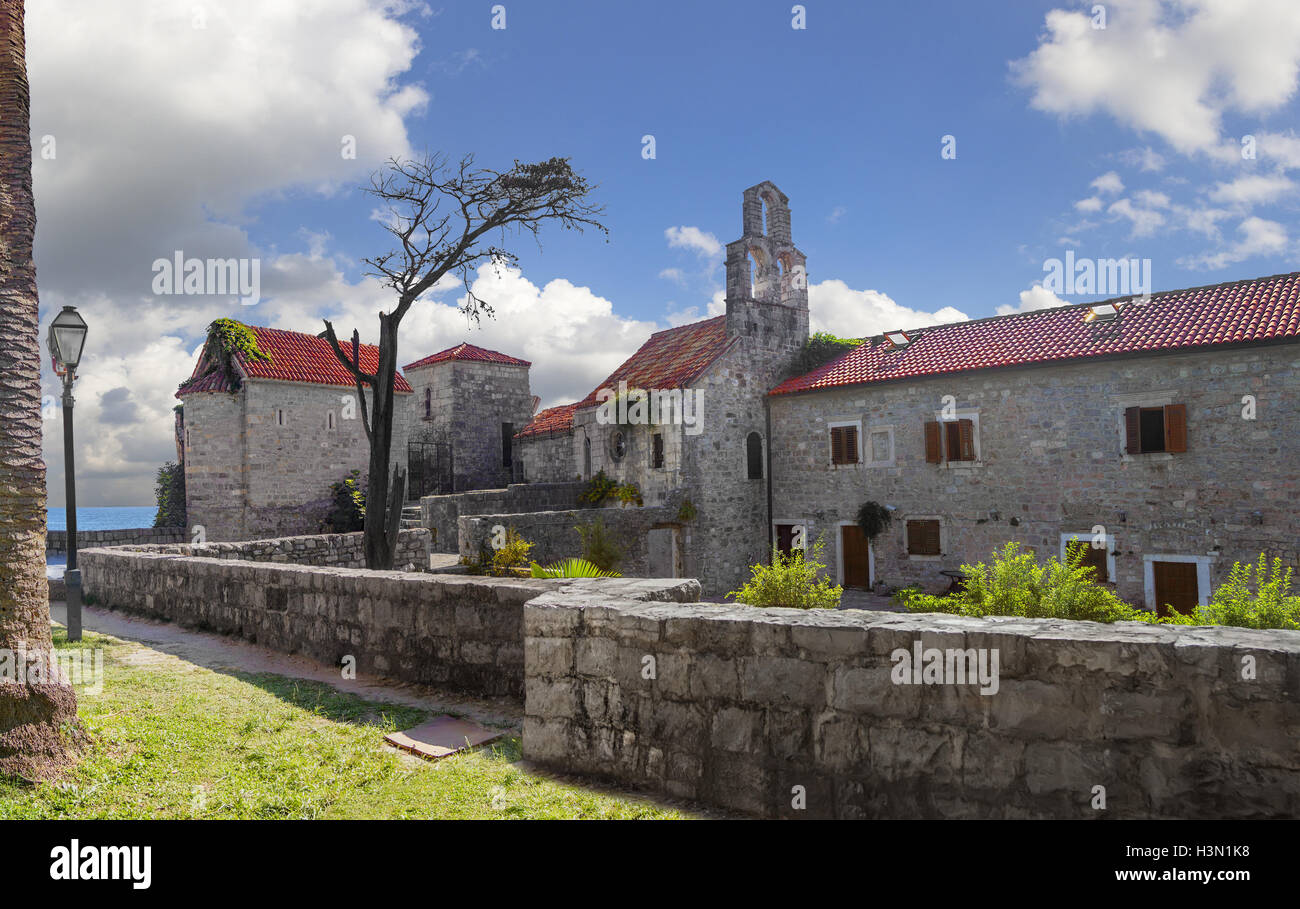 Inside the fortress of the Old Town. Budva, Montenegro. Stock Photo