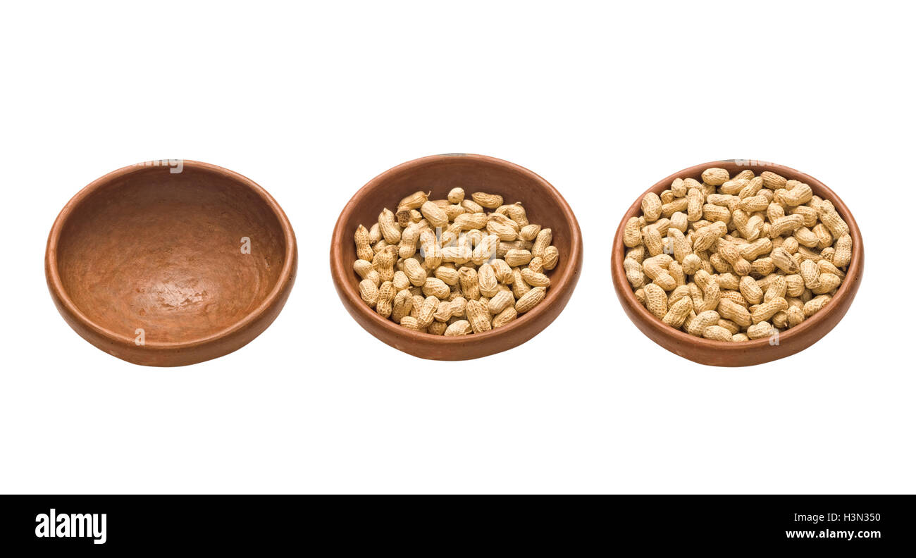 half-empty half-full - Stock Image