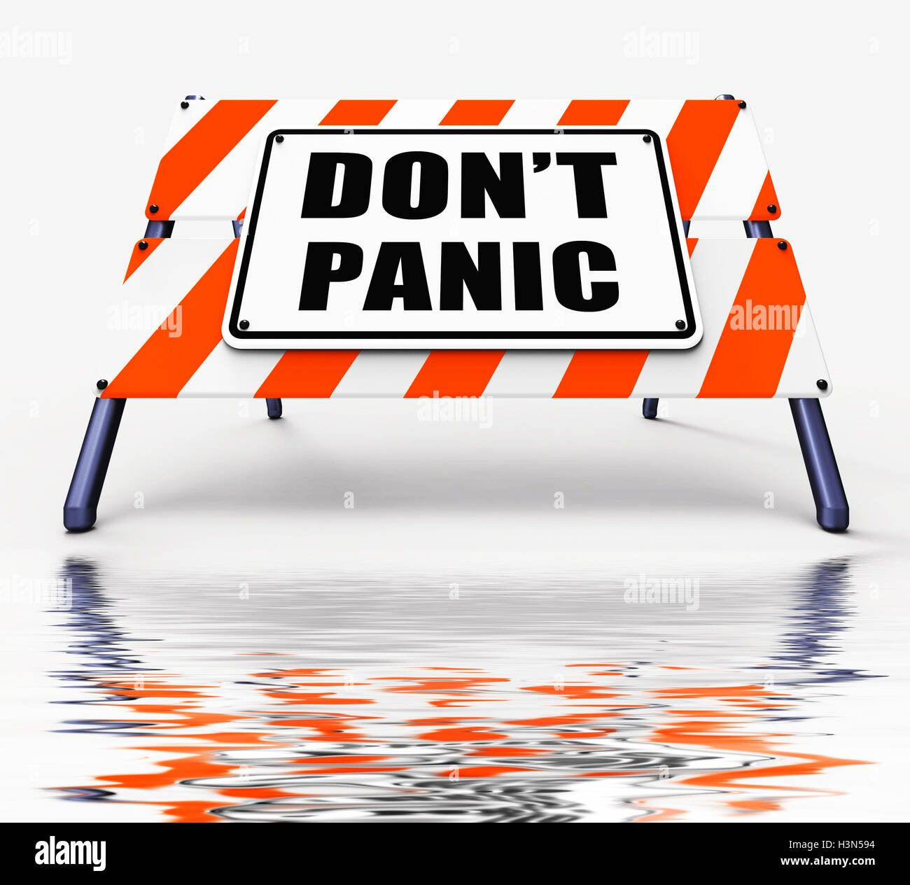 Dont Panic Sign Displays Relaxing and Avoid Panicking Stock Photo