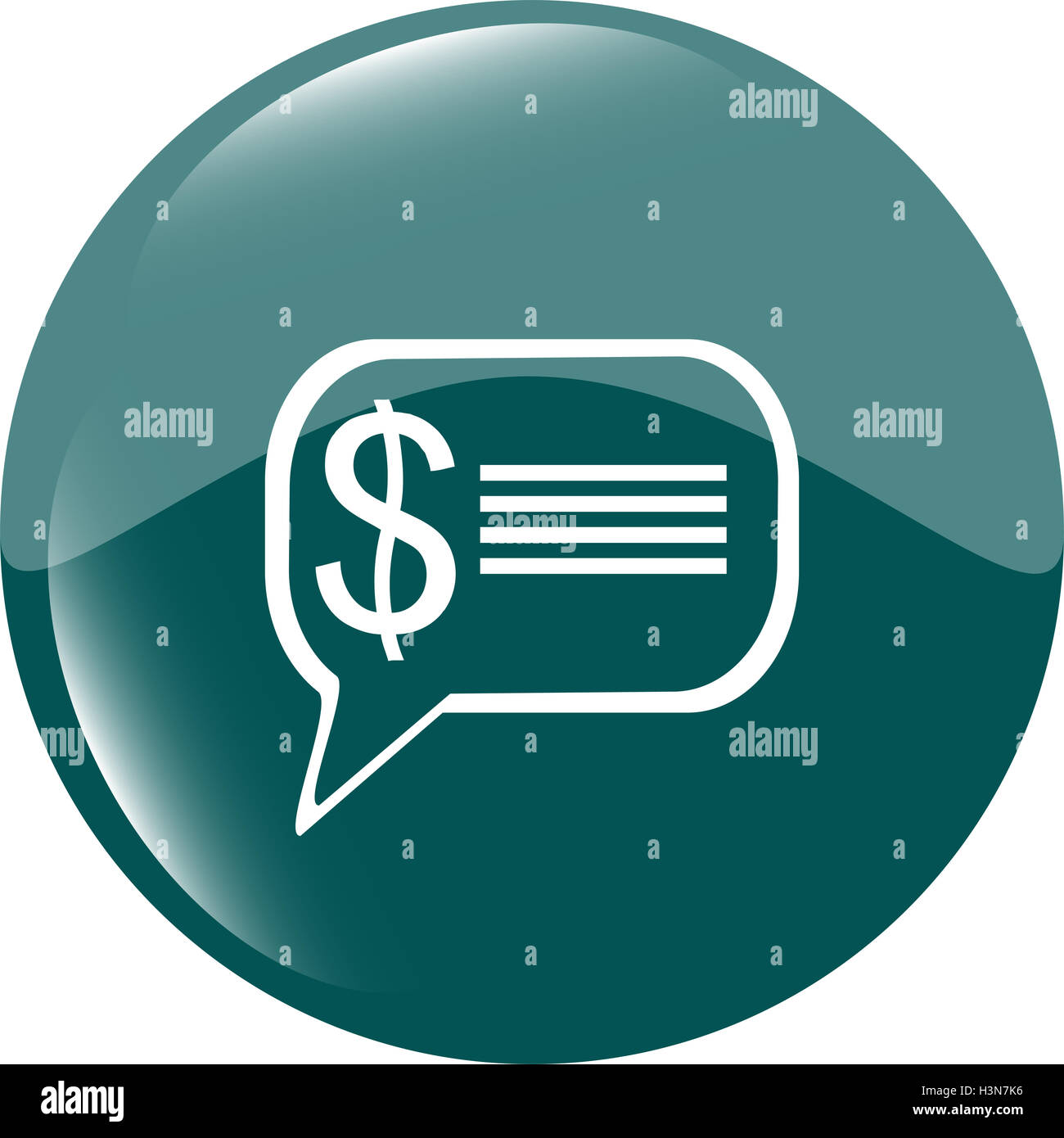 cloud with dollars usd sign icon. Briefcase button - Stock Image