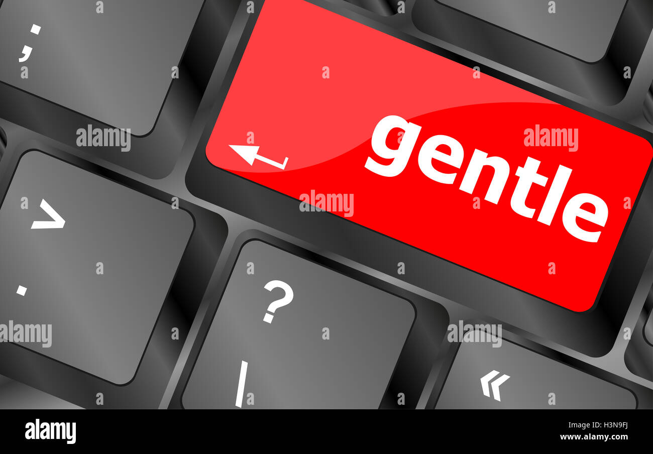 gentle button on computer pc keyboard key - Stock Image