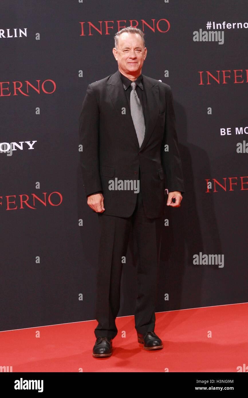 10.10.2016 - Tom Hanks bei der Premiere von 'Inferno' im Sony Center in Berlin/10 th October 2016 - Tom - Stock Image