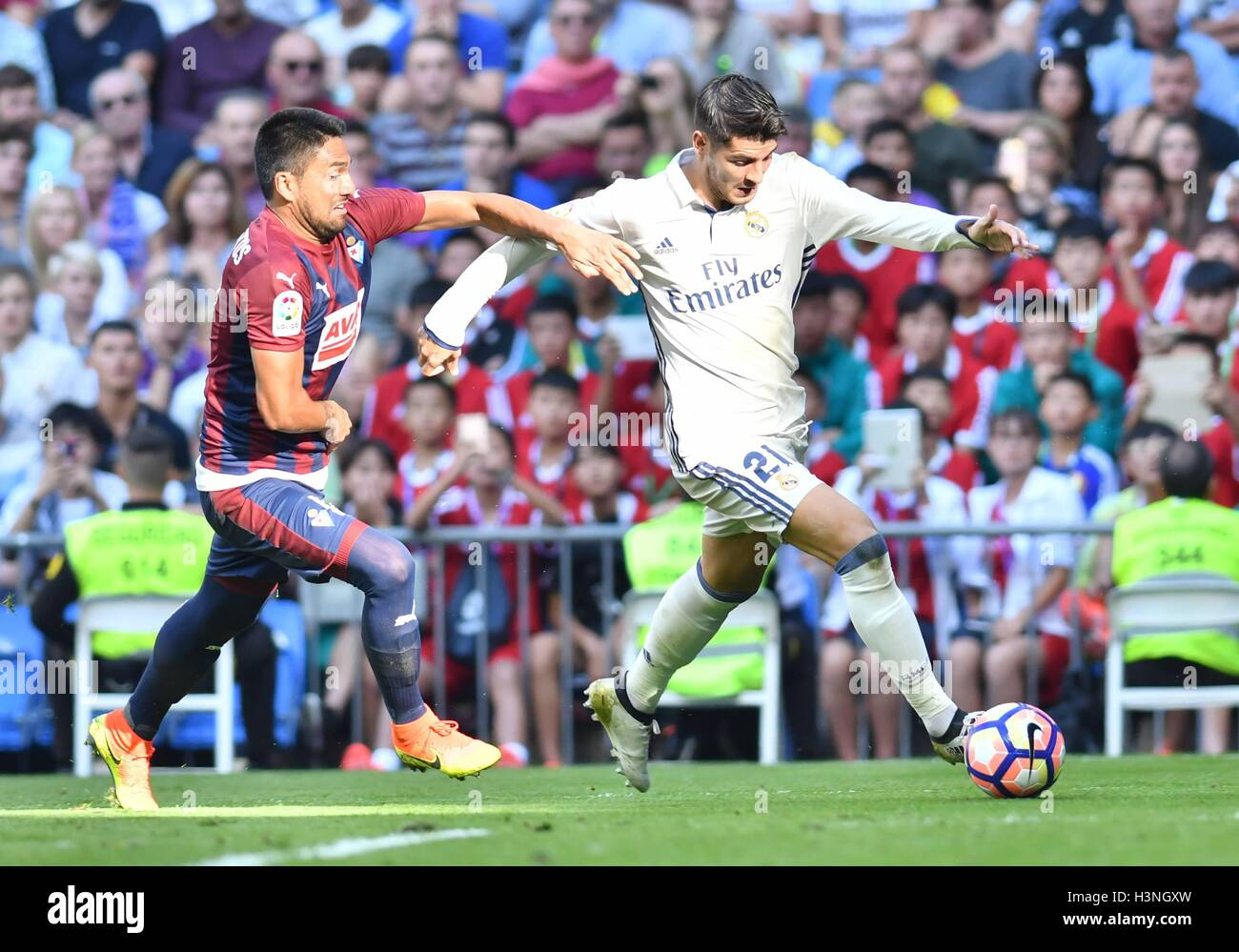 during the LA LIGA match between Real Madrid and SD Eibar played at Estadio Santiago Bernabeu, Madrid - FOTO : J.M.Colomo - Stock Image
