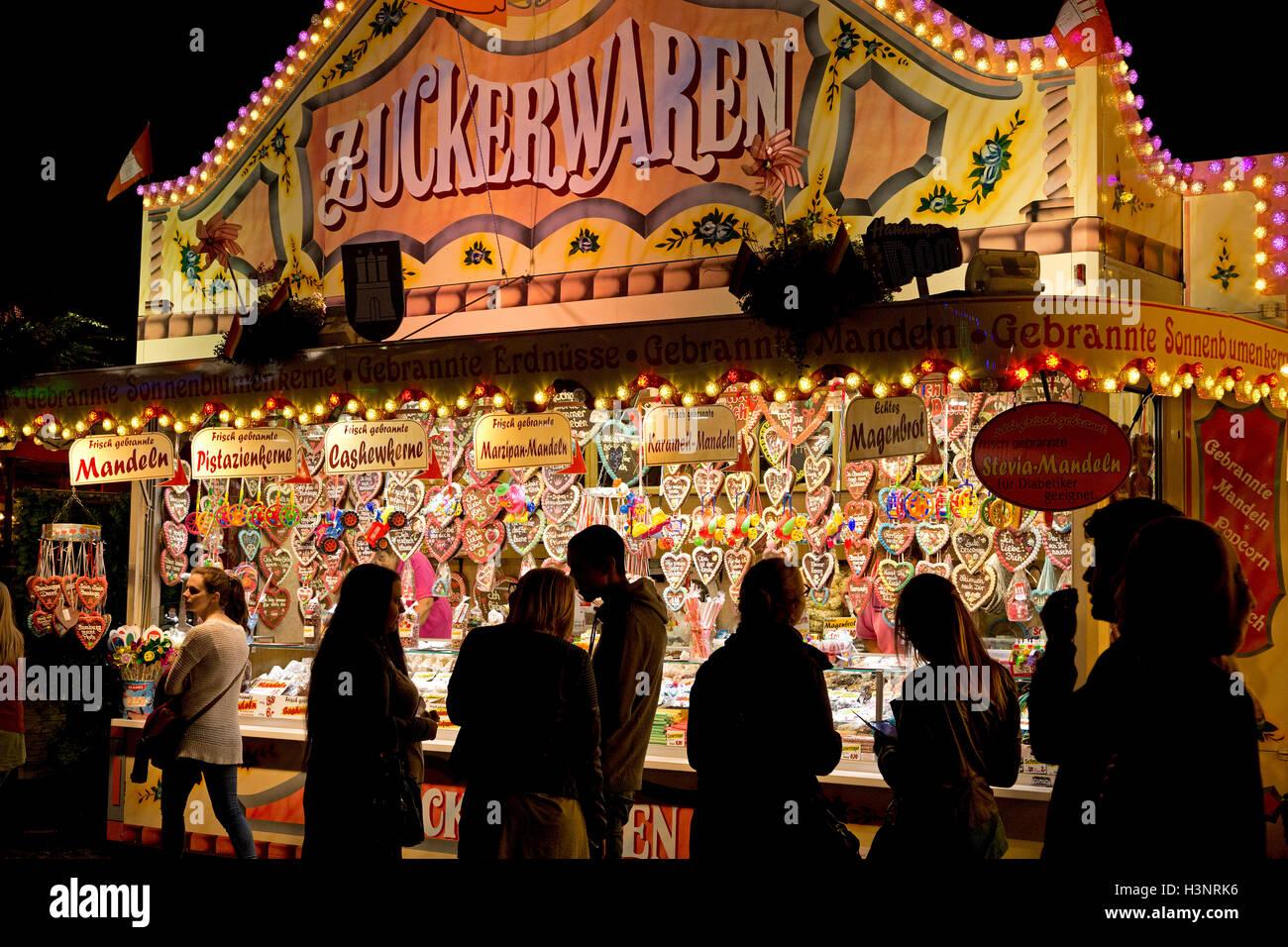 sweets stall, Dom, Hamburg, Germany - Stock Image
